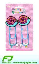 Lovely pvc rubber 3d animal bookmarks
