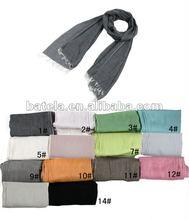 2012 fashion Solid color cotton scarf -1126