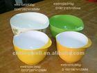 Two tone color set of 4pcs melamine plastic mixing bowl