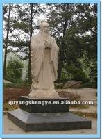 marble stone Confucius figure statue