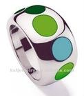 Import China goods enamel stainless steel engagement rings wholesale for unisex gift