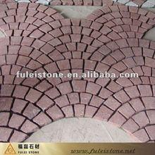 Factory price red interlock cheap paving stone
