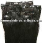 2012 top quality brazilian remy human clip in hair extensions for black women