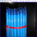 Personalizado de pvc madera palo de escoba, azul de madera de palo de escoba