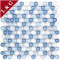 mg0102c mavi ve beyaz renkli kristal yuvarlak cam mozaik karo