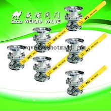 Stainless steel kitz ball valve , flange full bore ball valve