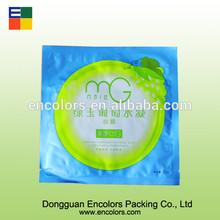9 colors Silver printing plastic facial mask packaging