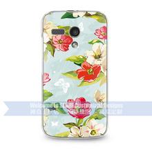custom flower design Phone Case For Moto G Xt1032 transparent side cover hot selling design cell phone cases manufacturer