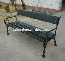 outdoor antique cast iron park bench