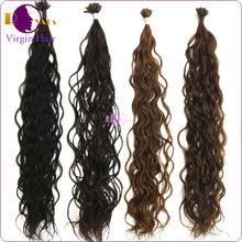 Fashionable utip / Nail Hair extension 100% brazilian hair Remy human Hair