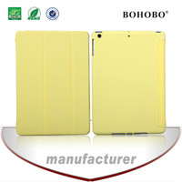 Wholesale fold PU leather tablet pc case For apple Ipad air5