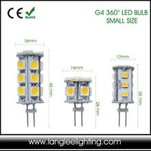 10-30V DC AC Cylinder Shape G4 Bi Pin LED Light Bulb