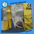 Fabricante de plata precio/oro láminadealuminio manta de emergencia