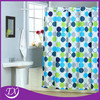 popular hookless design polyester cloth shower curtain