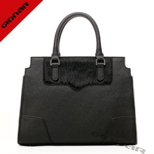 Horse hair & saffiano leather totes / winter famous designer purse / factory resale leather bags
