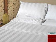 Hotel venda quente cetim da listra 100% lençol de algodão tecido