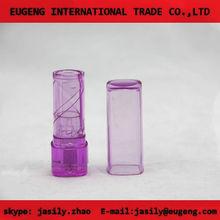 square transparent purple lip balm container
