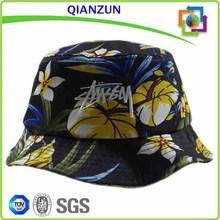 Black Floral Bucket Hat/Printed Bucket Hat/Print Pattern Bucket Hat