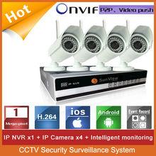 4ch NVR KIT 720P 1.0mp Wireless wifi IP Camera P2P Home alarm video push CCTV Security Surveillance system 4ch wifi ip camera