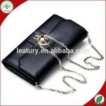 handbags wholesale France black cow leather ladies purses and handbags