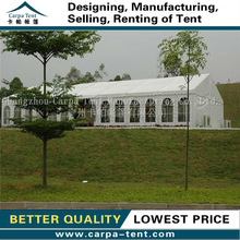 10 x 20 giant tent with white PVC tarpaulin fabric for ceremonial party for sale exported to Chile