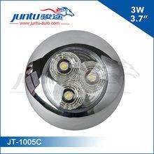 "Juntu new 3.7"" high performance LED 3W led car doom light 12v interior light"