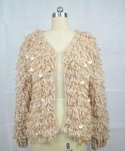 2014 Ladies cardigan winter wear handmade knitting jacket for women sweater