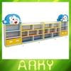 Nursery School Furniture Melamine Particle Board Toy Storage Cabinets Cartoon Design