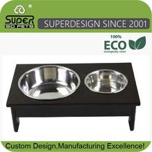 Dog Bowl Table Wood