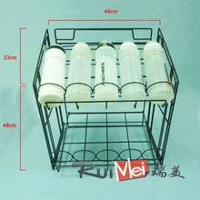 Assembled detachable customized metal suction cup shelf rack