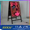 A Standing alibaba express led acrylic menu board