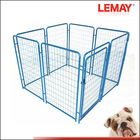 Fancy welded wire satinless steel dog crate