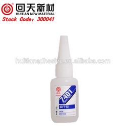 Midddle Viscosity Transparent Cyanoacrylate Super Glue 401 for Inert Materials