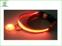 Lovoyager 2014 new pet products light up LED dog collar with mini led ring
