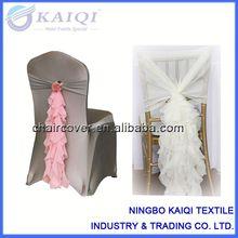 ningbo kaiqi textile industry trading co ltd wholesale pink chiffon fancy sash wedding decoration curled ruffled chair sash