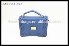 Small blue flap stylish college girl body cross bag