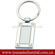 Popular and cheap custom rectangle metal keychain