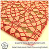 Big design two-tone stretch African nylon with cotton lace fabric
