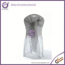 Fashionable design silver wholesale cheap wholesale organza and elegant wedding brooch sash cheap crystal organza chair sashes