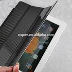 Napov Low MOQ Selling Excellent Smart Carbon Fiber Case Cover for iPad 2 3 4