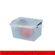 hot sale heavy-duty plastic storage box with wheels