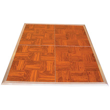 Movable dance floor, teak wood color for sale