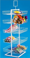 square basket toys display stand 4 tier metal wire doll stand