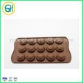 15 copos drôle visage souriant silicone chocolat moule