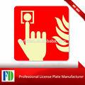 Señal de advertencia, señalización de la carretera, de seguridad contra incendios signos