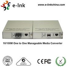 10/100/1000M One to One Manageable Media Converter with management function