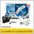 Top qualidade controleremoto brinquedo dourador 2 2.4g ch rc brinquedo avião planador oc0184320