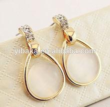 Wholesale customize jewelry opal drop earring,gold earring designs