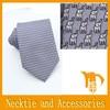 Cartoon necktie with print fabric animal pattern