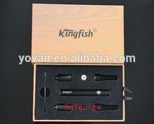 Wholesale - Kingfish brand ego dry herb vaporizer electronic cigarette kit K2 herbal vaporizer pen E Cigarette Kit elegant gift